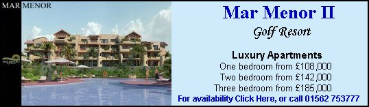 click here to see more information about Mar Menor II Golf Resort